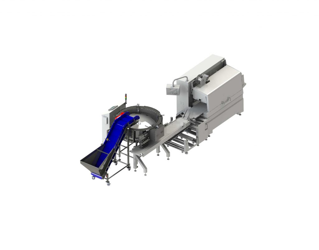 Solution of loading batches into the flowpack to count, distributing and loading your product.
